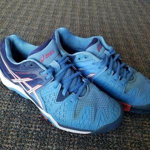 Asics Shoes - Asics Gel Resolution E550Y Tennis Shoes Blue 8.5